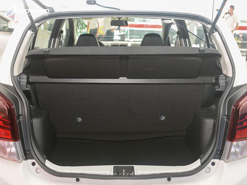 Khoang hành lý Toyota Wigo 2020 rộng rãi