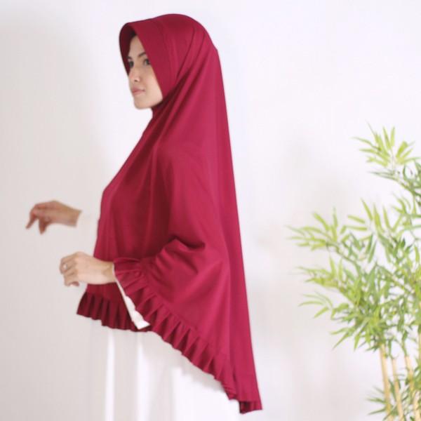 Hijab Bergo Syari Instan Jersey Irish Sheahijab