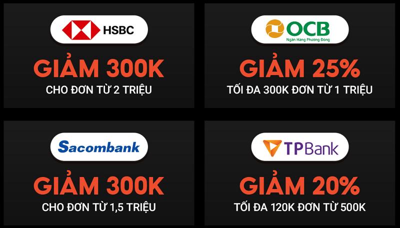Ưu đãi đối tác ngân hàng