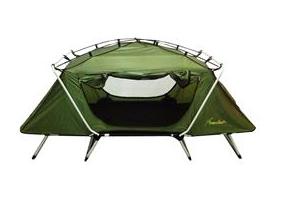 เตียงเต็นท์ Auto FIELD&CAMP สีเขียว-ดำ
