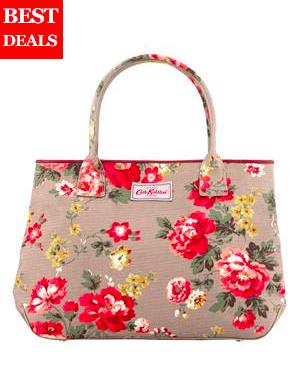 กระเป๋าถือ CATH KIDSTON รุ่น Winter Rose Oat EMHANDBAGTOTEBR สีน้ำตาลลายดอกไม้