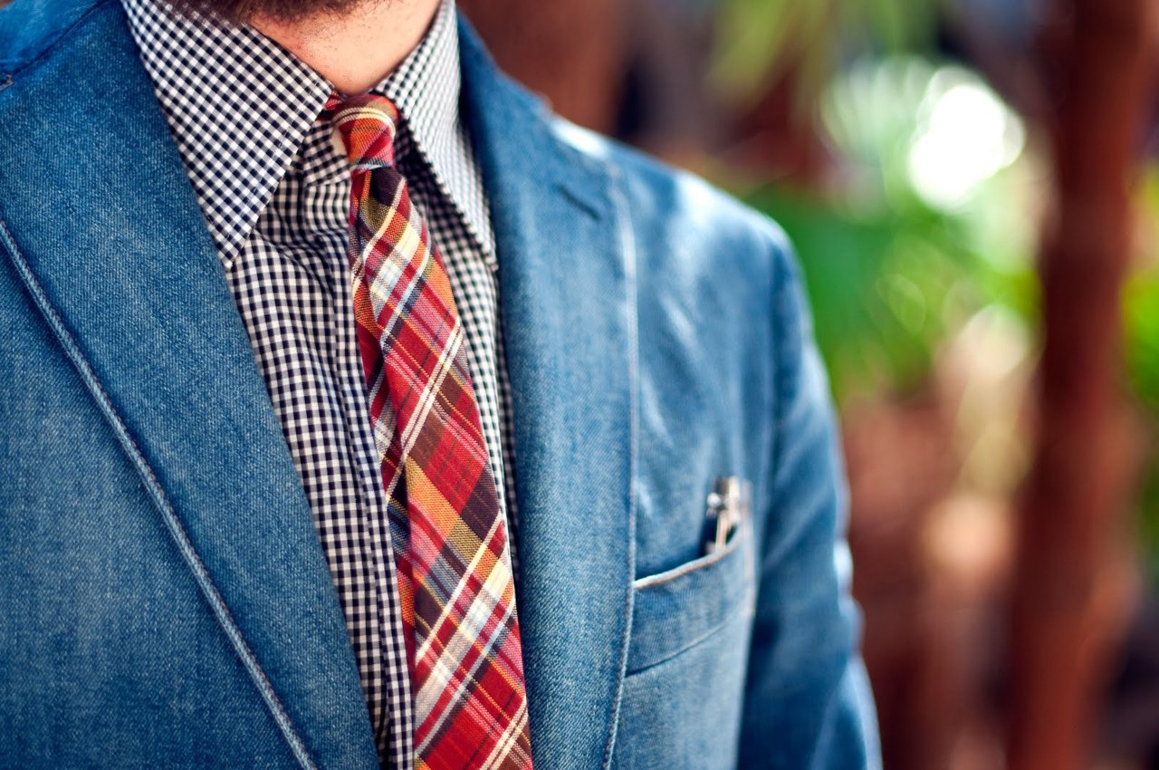 denim-jacket-madras-tie-streetstyle-men-fashion