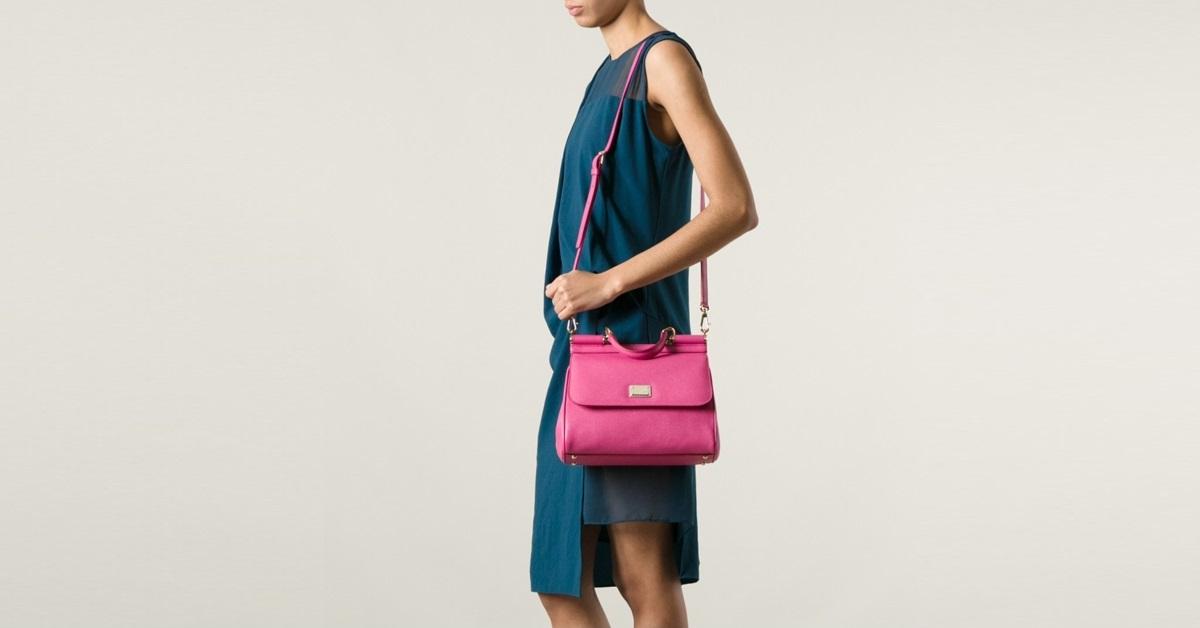 กระเป๋า dolce ของแท้ Pink Medium Sicily Bag