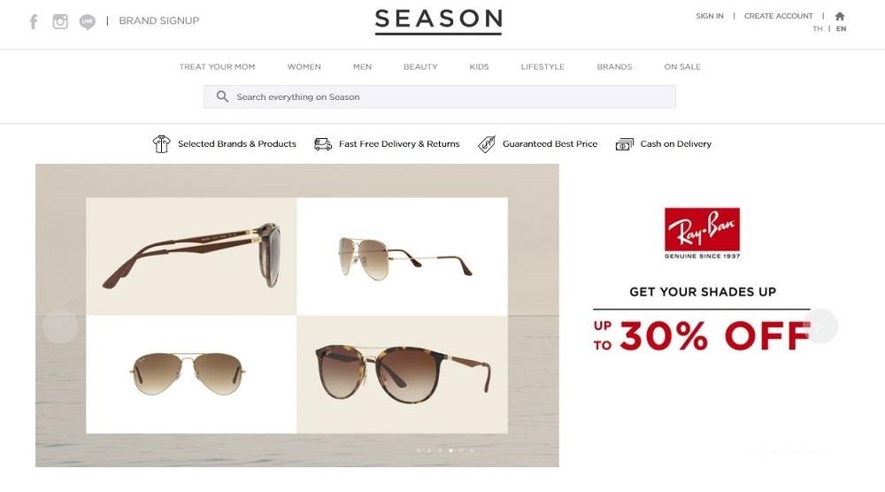 โปรโมชั่น Shopseason ส่วนลด Rayban