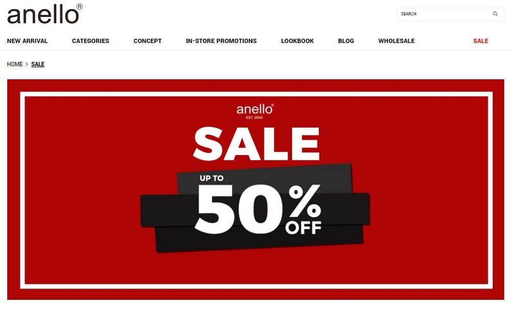โปร Anello ลด 50 %