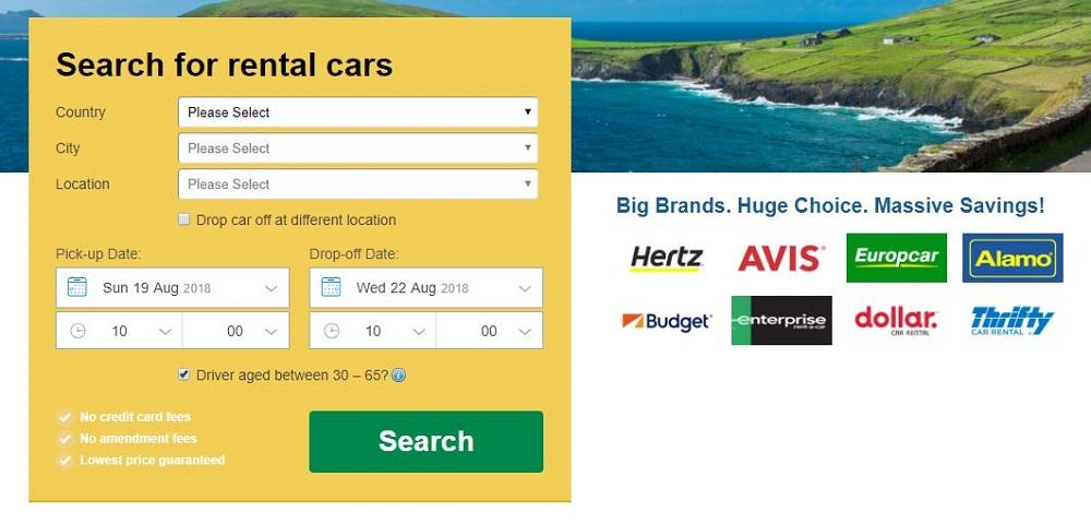 เช่ารถ Rentalcars hertz avis