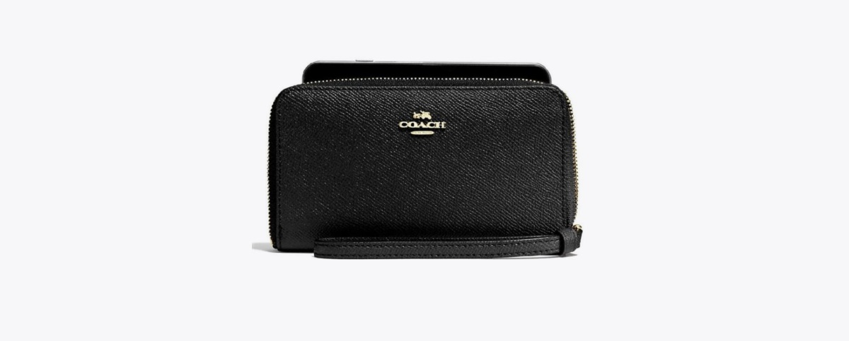 COACH F58053 PHONE WALLET IN CROSSGRAIN LEATHER