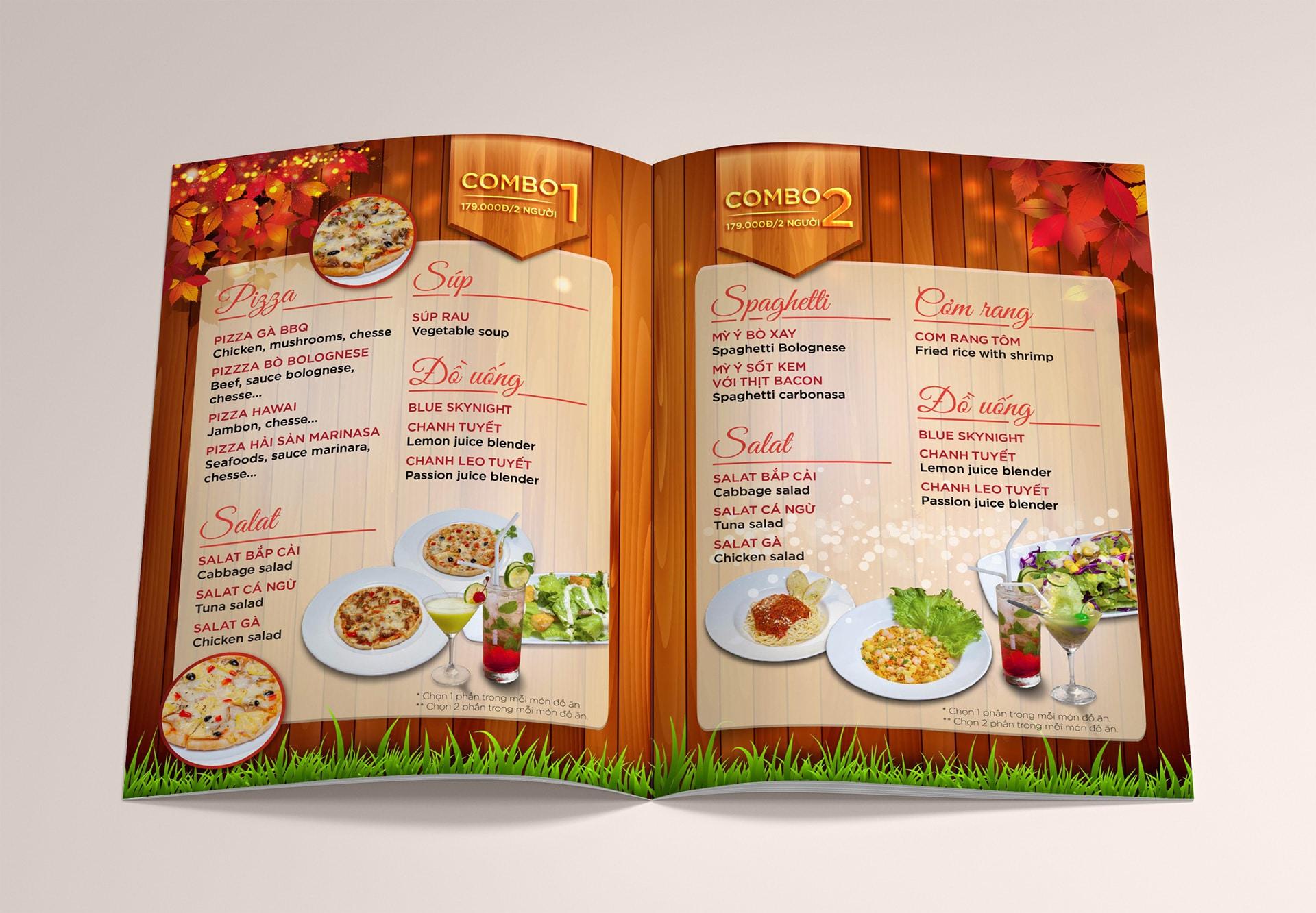 Chắc chắn một menu hấp dẫn sẽ khiến khách hàng bị kích thích nhiều hơn