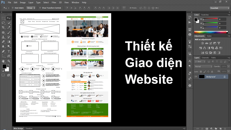 Thiết kế Giao diện PSD