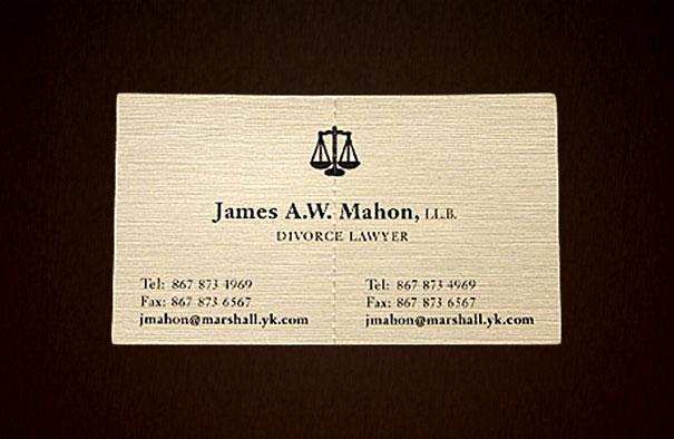 Card visit của luật sư ly hôn