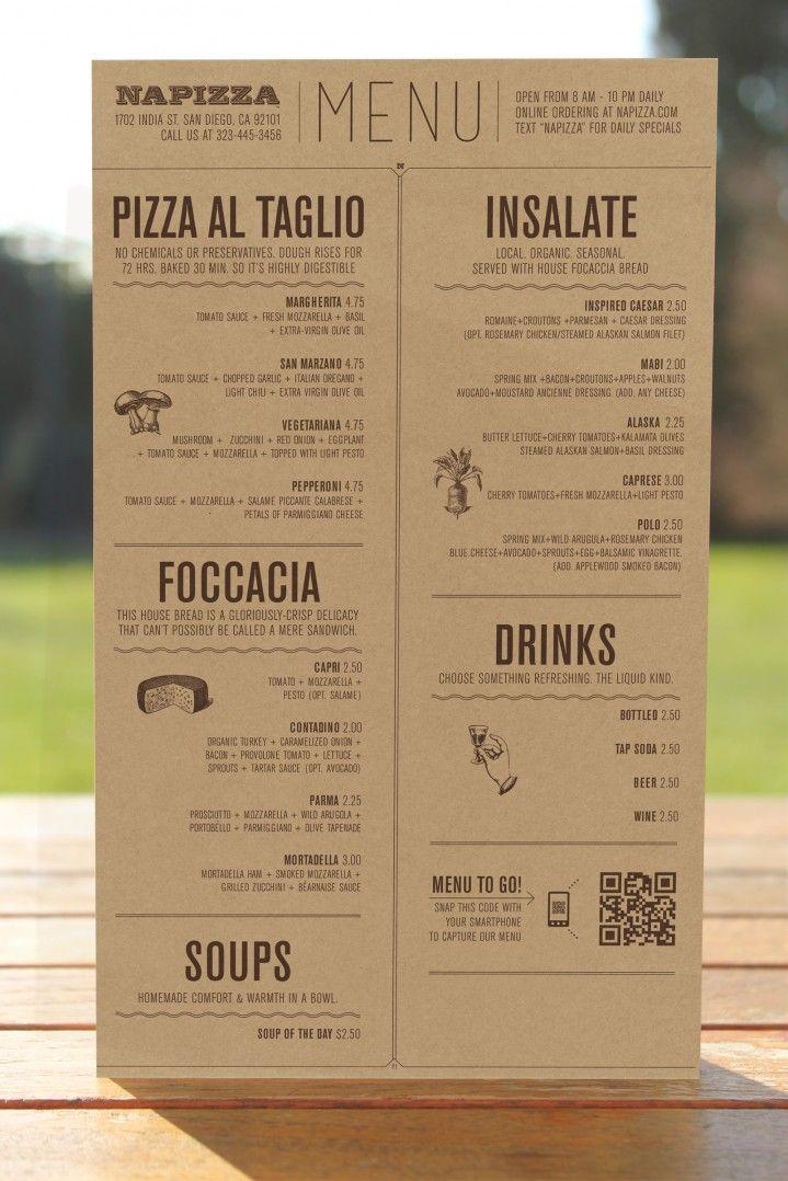 Các loại hình menu đa dạng
