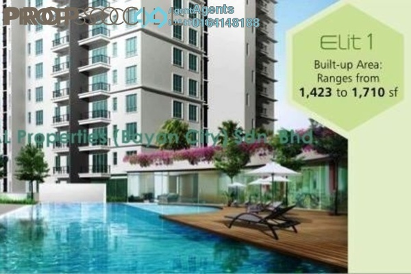 For Rent Condominium at Elit Heights, Bayan Baru Freehold Semi Furnished 3R/2B 1.6k