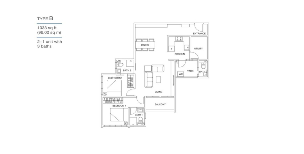Skyville 8 Type B Floor Plan
