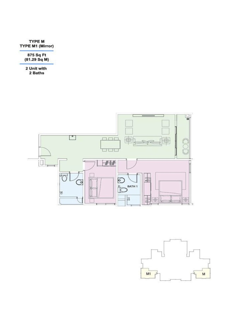 Skyville 8 Type M / M1 Floor Plan