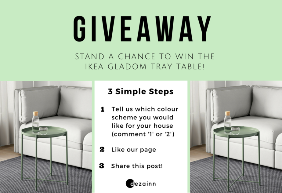 Stand a chance to win this tray table!