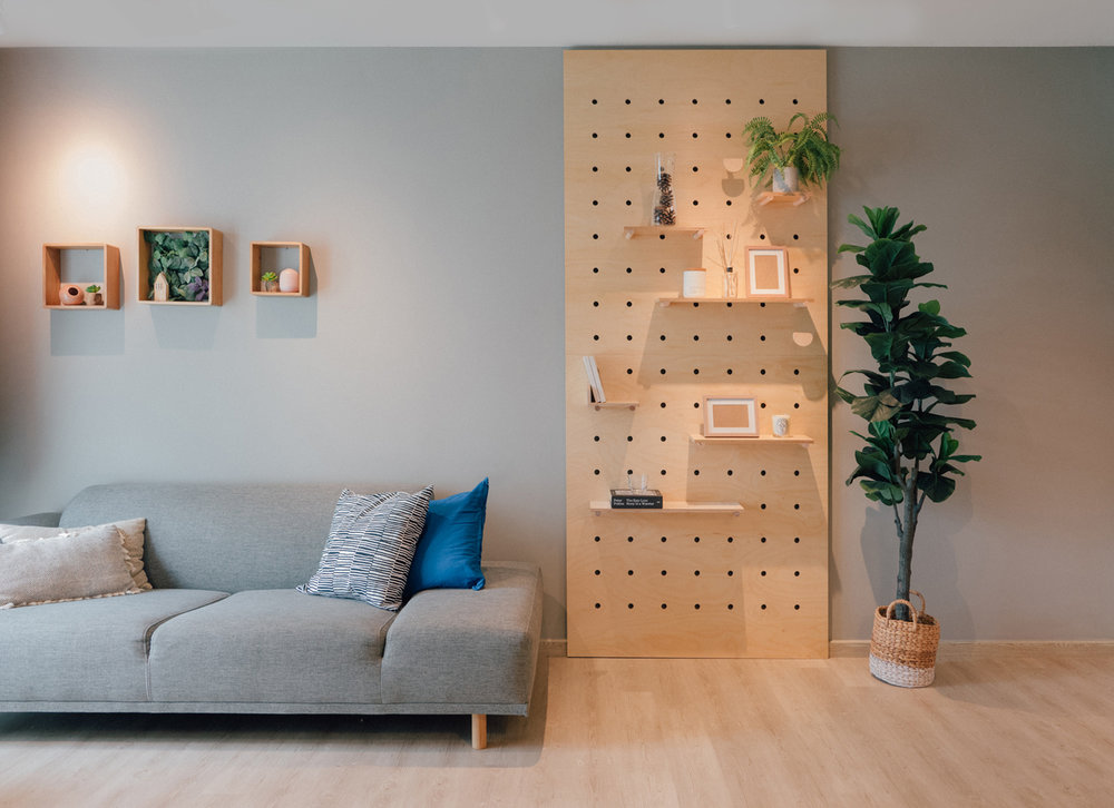 The PeggyBoard: A simple, innovative and stylish shelving solution
