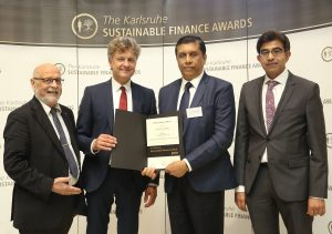 DFCC Bank recognized at the Global Karlsruhe Sustainable Finance Awards in Germany 1