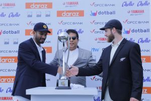 DFCC Bank Cup for 2019 New Zealand Tour of Sri Lanka unveils at Galle International Cricket Stadium 1