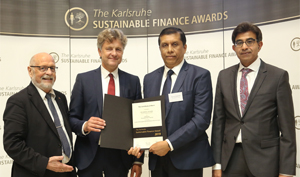 DFCC Bank recognized at the Global Karlsruhe Sustainable Finance Awards in Germany