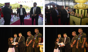 "DFCC Bank awards scholarships at the ""Financial Grants Awarding Ceremony"" for the children of War He"