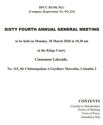 64th Annual General Meeting