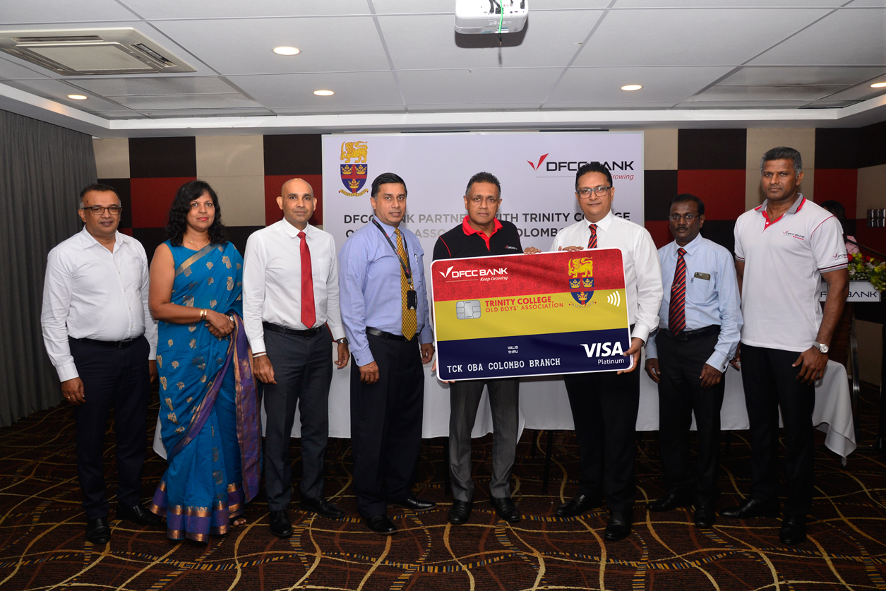 DFCC Bank launches Affinity Credit Card with Trinity College Kandy Old Boys' Association, Colombo Branch 1