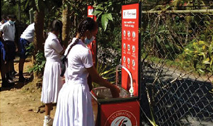 DFCC Bank donates hand washing booths to 65 rural schools to support the COVID-19 safety measures