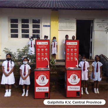 DFCC Bank donates hand washing booths to 65 rural schools to support the COVID-19 safety measures 1