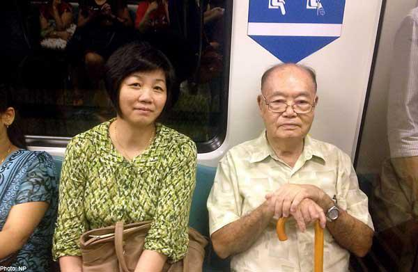 Image result for giving up a seat for elderly