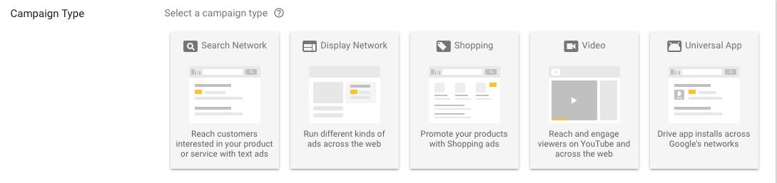 google adwords 型態