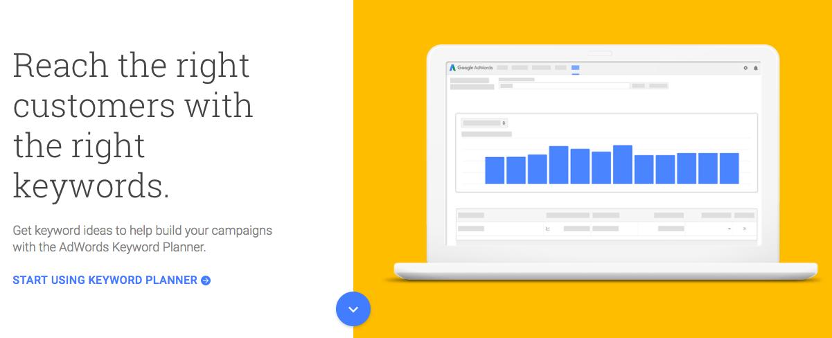 Google Keyword Planner關鍵字規劃