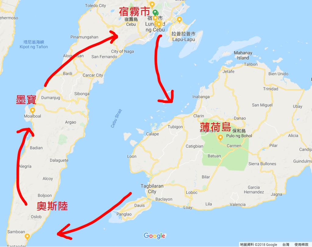 宿霧跳島地圖