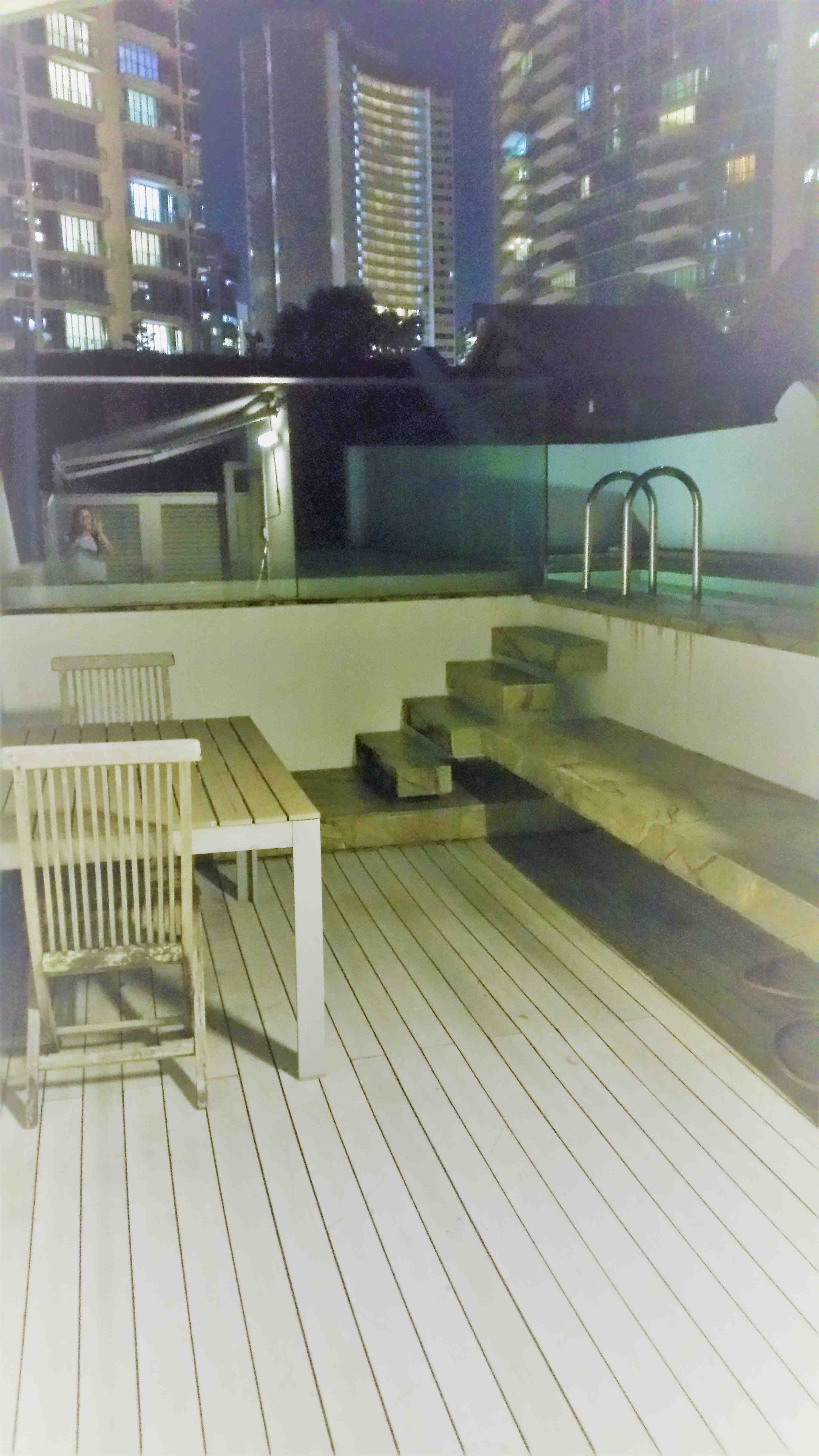 Rooftop swimming pool night 001