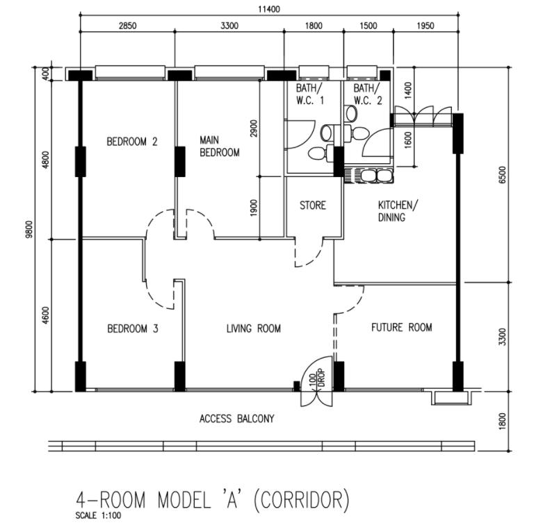 234 4rm floorplan