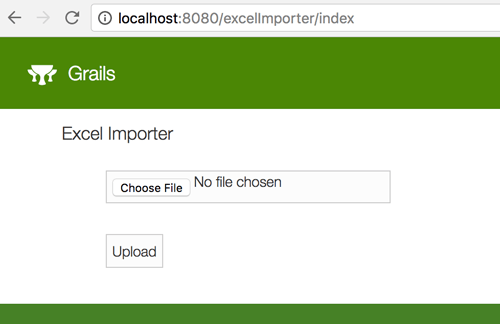 Grails 3 and Apache POI - Import Data from Excel - File importer view