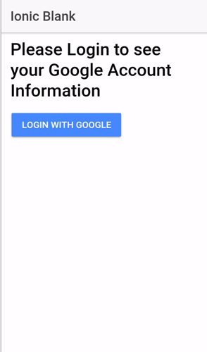 Ionic 3 Google Plus Authentication Tutorial - Ionic App with Google Login