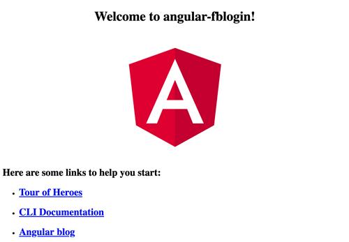 Angular Facebook Login - Angular Welcome Page