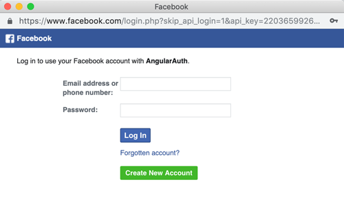 Angular Facebook Login - FB Login Dialog