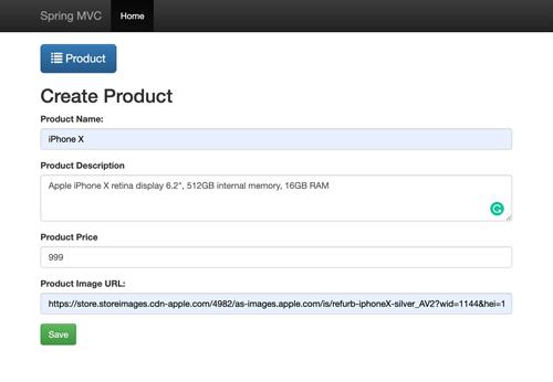 Spring Boot Tutorial: Build an MVC Java Web App using Netbeans - Create Product