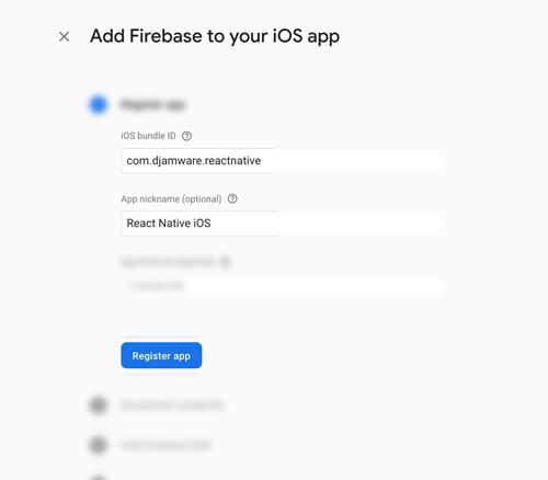 React Native Firebase Cloud Messaging (FCM) Push Notification - Register App