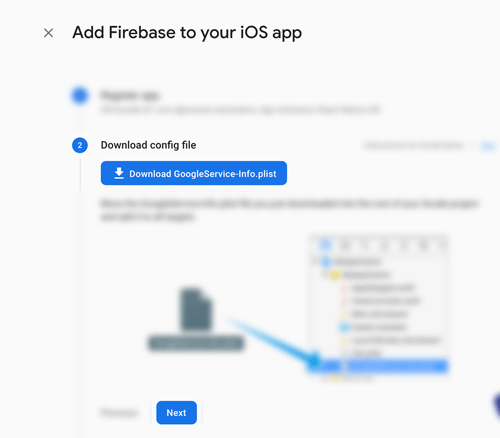 React Native Firebase Cloud Messaging (FCM) Push Notification - Download Google Service