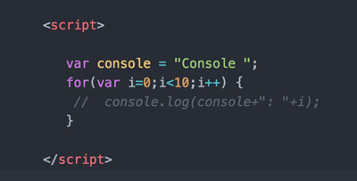 Print Log to Javascript Console and Commenting Out Codes