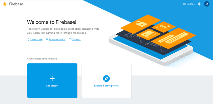 React Native Firebase Tutorial: Build CRUD Firestore App - Firebase Console