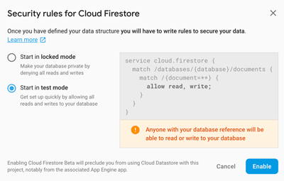 React Native Firebase Tutorial: Build CRUD Firestore App - Cloud Firestore Setup