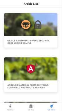 Ionic 4 Tutorial: Ionic Responsive Grid Angular 8 Examples - list iphone 6 portrait