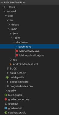 React Native Firebase Cloud Messaging (FCM) Push Notification - package name