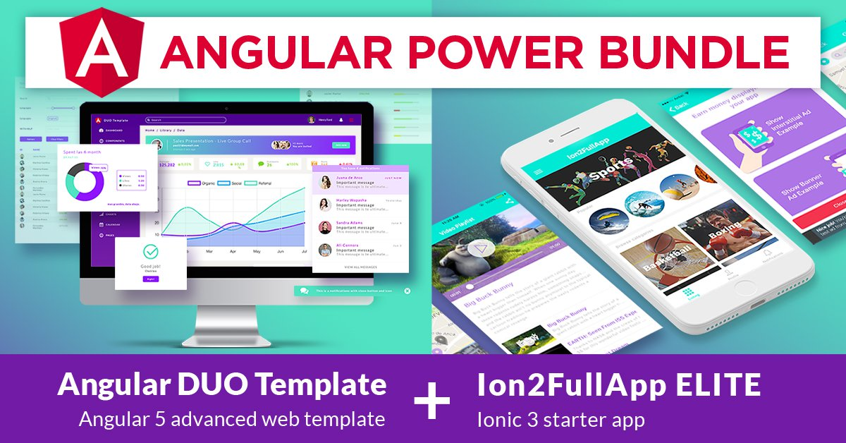 Ionic Themes - Angular Power Bundle