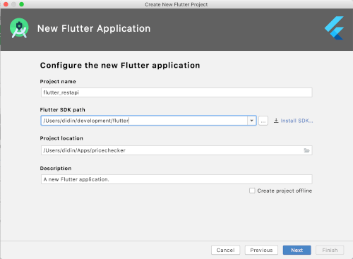 Flutter Tutorial: Consume CRUD REST API Android and iOS Apps - Project Name