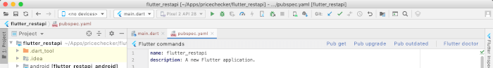 Flutter Tutorial: Consume CRUD REST API Android and iOS Apps - Pub Get