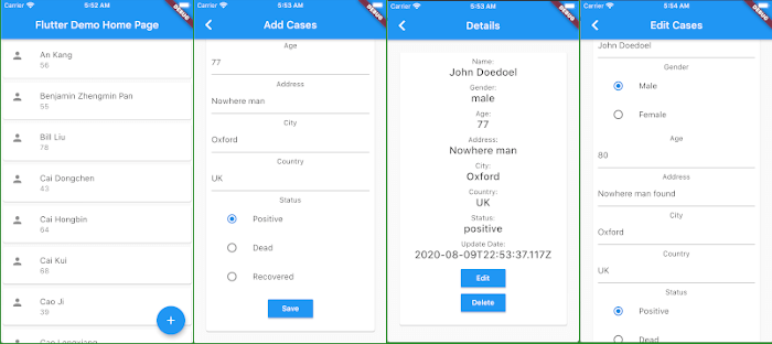 Flutter Tutorial: Consume CRUD REST API Android and iOS Apps - iOS Demo
